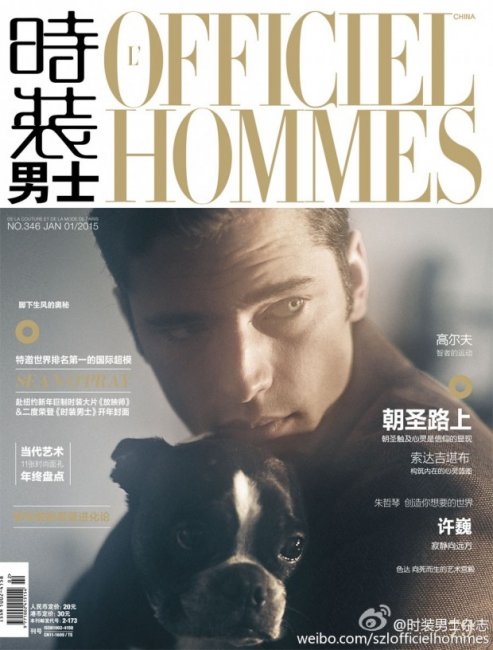 Шон О`Прай в L'Officiel Hommes China