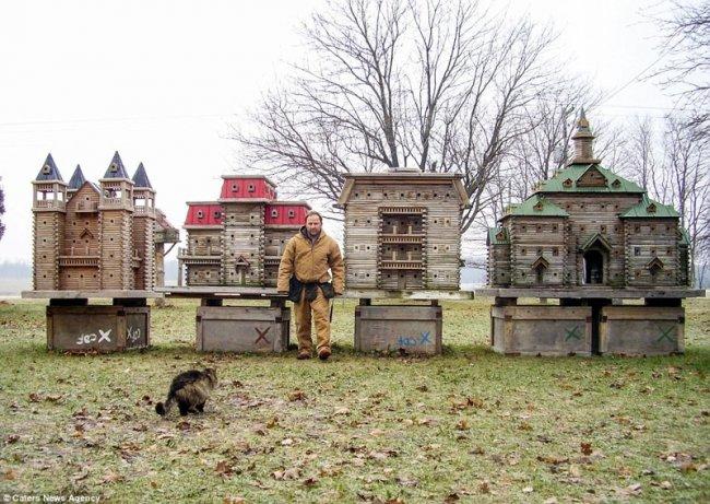 Удивительные дворцы для птиц от канадского плотника